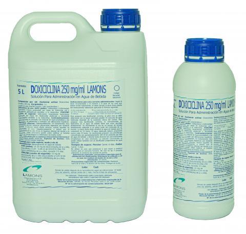 Doxiciclina 250 mg/ml Lamons